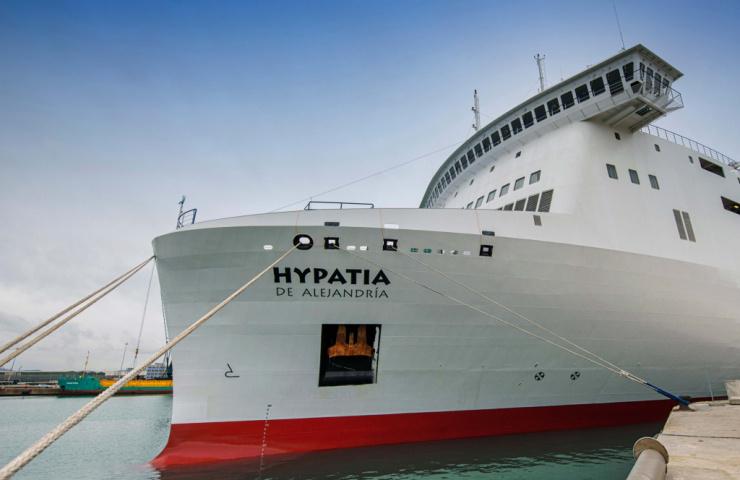 A bordo del 'ferry Hypatia de Alejandría'